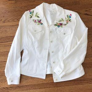 Escada cruise resort 38 embroidered floral jean